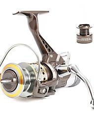 Molinetes Rotativos 5.0/1 10 Rolamentos Trocável Isco de Arremesso / Pesca Geral-BR5000 Fishmore
