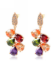 Korean Multi Color Colorful Crystal Earrings For Women Earring Lovers Gift Jewelry