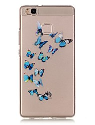 Hollow High Permeability Blue Butterfly Pattern TPU Soft Case Phone Case For Huawei P9Lite/P9 Plus/P8Lite/Y635/Honor 5X