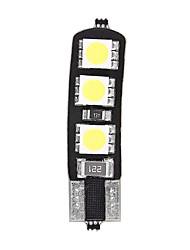 10pcs T10 6SMD 5050 CANBUS ha condotto la lampadina per auto coda luce di posizione laterale mappa porta cupola di luce (DC12V)