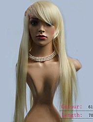 Blone Straight Hair Long Length Top Quality Synthetic Wigs