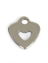 Beadia (50Pcs) 10x11mm Heart Shape Stainless Steel Charm Pendant For Necklace & Bracelet Jewelry Making
