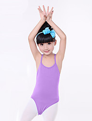 Ballet Leotards Children's Training Cotton Ruched 1 Piece Sleeveless Natural Leotard Kid's Dance Costumes