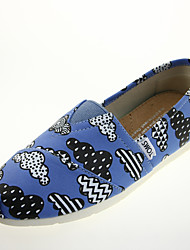 Women's Shoes Twill Flat Heel Comfort / Ballerina / Round Toe / Closed Toe Flats Casual Blue / Gray
