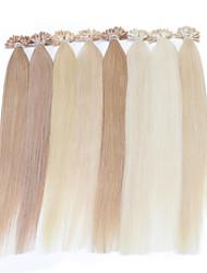 cabelo humano 25g extensão do cabelo neitsi 16 polegadas destaque ponta reta u prego prebonbded