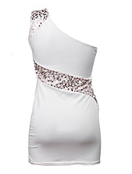 Women's Sexy Bodycon Cute Party Plus Sizes Micro Elastic Sleeveless Above Knee Dress (Sequin/Knitwear)