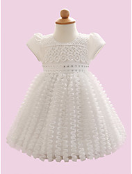 Baby Casual/Daily Solid Dress,Polyester Summer White
