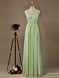 Formal Evening Dress A-line Sweetheart Floor-length Chiffon with Side Draping
