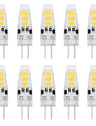 1W G4 Luminárias de LED  Duplo-Pin T 6 SMD 5733 80 lm Branco Quente / Branco Frio Decorativa DC 12 V 10 pçs