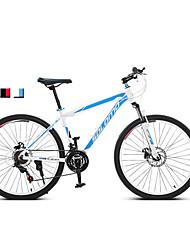 Bicicleta De Montanha Unissex Suspensão Garfo Freio a Disco Duplo Quadro de Liga de Alumínio Anti-Escorregar 21 velocidade 26 polegadas
