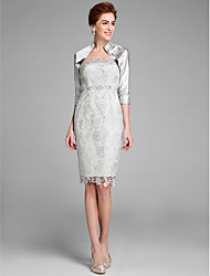 Lanting Bride® Sheath / Column Mother of the Bride Dress Knee-length Sleeveless Lace with Lace