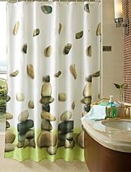 "Modern Stone Pattern Shower Curtains W71""×L71"""