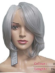 Grey Hair Wigs Fashion Synthetic Women Wigs Wave Short hair Wigs