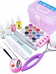 28 Sets Nail Kit Nail Art Decoration Accessories Nail DIY Nail Polish Kit