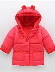 Casual/Dagelijks-Patchwork-Katoen-Zomer-Girl's-Kostuum & Blazer-Roze / Rood