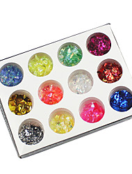 12 cores de glitter papel kit nail art
