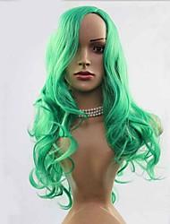 косплей парик партии мульти цветы имеющиеся зеленые волосы парики