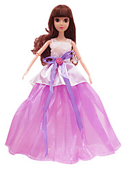 vestido de novia de 11,5 pulgadas de gama alta de gama alta del vestido del vestido púrpura (sin el bebé)