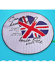 Cotton Quilted Round Storage Mat Cartoon Child Crawling Pad