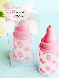 Beter Gifts® Recipient Gifts - 1Piece/Set - Pink baby bottle candle favors, Cake Decorating