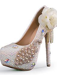 женская обувь стилет каблук каблуки каблуки свадьба / партия&вечер / платье белое