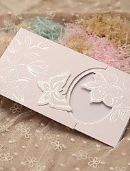 Side Fold Wedding Invitations 50-Invitation Cards Classic Style Fairytale Theme Pearl Paper