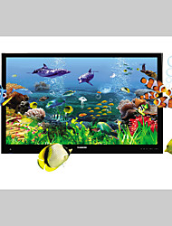 JAMMORY 3D Wallpaper Country Canvas Material Adhesive required Mural Room Wallcovering The Underwater World