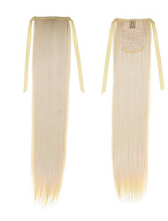 Synthetic Straight Ponytail 50cm 22inch 100g #613 Blonde Color Fashion Ponytail Hair Extensions Lddaies' Ribbon Ponytail