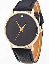 Women/Lady's Simple Pure Color Case Leather Band Analog Quartz Watch