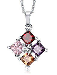 Necklace Pendant Necklaces / Pendants Jewelry Daily / Casual Fashionable Cubic Zirconia Assorted Color 1pc Gift