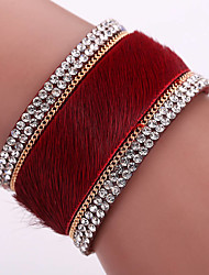 Fashion Trendy  Multi drill Bracelet Ms Korea velvet set auger alloy magnetic clasp bracelets #YMG1083