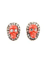 European Style Luxury Gem Geometric Earrrings Skull Stud Earrings for Women Fashion Jewelry Best Gift