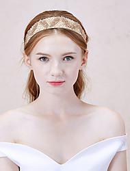 Mujer Aleación Celada-Casual Bandas de cabeza 1 Pieza Oro Irregular 40