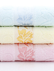 "1 Piece Full Cotton Hand Towel 29""by13"" Leaves Pattern MultiColor Super Soft Strong Water Absorption Capacity"