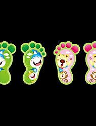 Luminous Cartoon DIY Colorful Lovely Kids Footprint Luminous Wall Stickers PVC Children's Bedroom Wall Decals