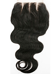 From 8inch-20inch Natural Black Body Wave Human Hair Closure Medium Brown Swiss Lace 0.05gram/piece gram Cap Size