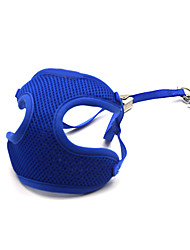 Cat / Dog Harness / Leash Adjustable/Retractable / Breathable Solid Blue Mesh
