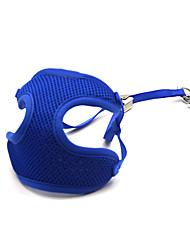 Chat / Chien Harnais / Laisses Ajustable/Réglable / Respirable Solide Bleu Maille