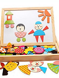 Educational Wooden Jigsaw Magnetic Blackboard Drawing Board