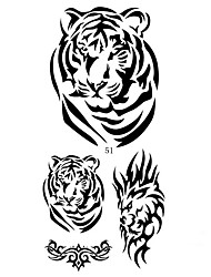 16 Designs Temporary Tattoo Sticker Animal Tiger Snake Pattern for Men and Women 24cm*9.5cm (Assorted Pattern)