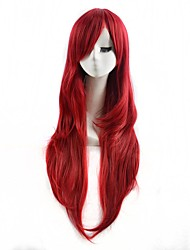 Red Color Cosplay Synthetic Wigs Cheap Straight Wigs Fashion Wigs