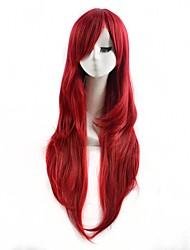красный цвет косплей синтетические парики дешевые прямые парики модные парики