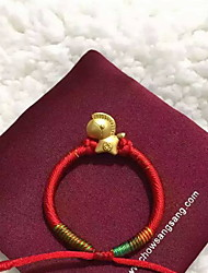 Charm Bracelets 1pc,Red Bracelet Fashionable Round Fabric Jewellery