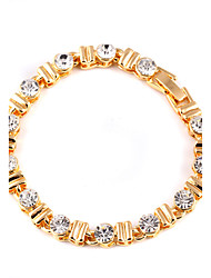 Women's  Alloy Decorative Sparkling Crystal Geometric Gold Classic Bracelet Bridal Accessories