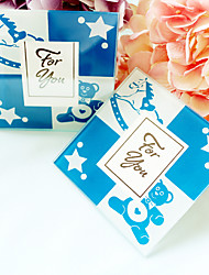 Recipient Gifts- 2pcs - Blue Prince Glass Photo Frame Coasters Baby Birthday Party Souvenirs, Return Guest Favors
