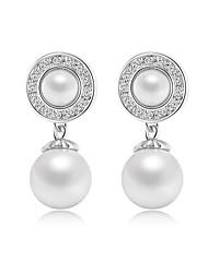 Boucle Forme de Cercle / Forme Ronde Bijoux 1 paire Imitation de perle / Mode Mariage / Soirée / Quotidien / DécontractéAlliage /