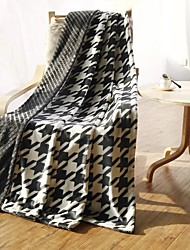 "Flannel Blankets Bed Blanket  W70""×L79""""Super Soft Warm and Easy Care Geometric Pattern"