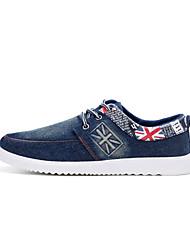 Masculino-Rasos-Rasos-Rasteiro-Preto / Azul-Jeans-Casual