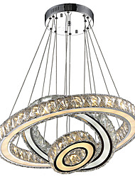 LED Crystal Chandeliers Lighting Fixtures Dining Room Living Room Hotel Lights with 3Ring D204060CM 54W CE FCC ROHS