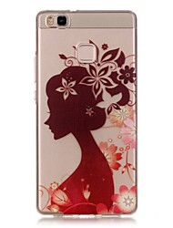 Hollow High Permeability Silhouette Girl Pattern TPU Soft Case Phone Case For Huawei P9Lite/P9 Plus/P8Lite/Y635/Honor 5X